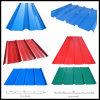 Aplicación de techo Prepintado de color chapa de acero corrugado / placa
