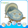 Muchacho Style Blue Grille Style europeo Maize Bassinet para Newborn Babies