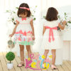 Picnic stampato Dress per Girl, Baby Garment, Baby Clothes (9298V)