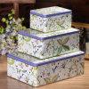 Candy Vintage latas de estaño metálico Caja de almacenamiento (FV-042921)