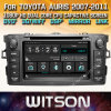 Witson Windows Car Multimedia player de DVD para a Toyota Auris 2007 2011