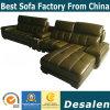 Melhor qualidade de forma L moderno mobiliário de escritório sofá de couro (A848)