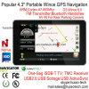 4.3 Carro elevador Marine navegação GPS com cortex A7, navegador GPS Bluetooth, ISDB-T, TV, transmissor FM TMC, AV-na câmara traseira, Sistema de Navegação GPS do dispositivo portátil
