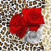 100%Polyester Rosa com dispersão do leopardo 3D imprimiu a tela para o jogo do fundamento