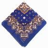 Impresión personalizada de productos OEM Paisley de algodón azul de 22*22 Bandana