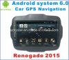 Carro Android GPS do sistema 6.0 para o renegado 2015 com navegação do carro