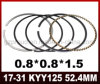 Piezas de la motocicleta de la alta calidad del aro del pistón Kyy125