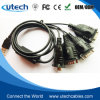 USB aan 4ports RS232 dB9 Cable