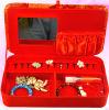 Caixa de armazenamento vermelha da jóia da roupa