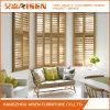 2017 persianas del color de madera de interior americano ajustable