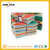 almofadas de limpeza coloridas de 10PCS Microfiber