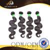 Объемная волна человеческих волос Remy черной девственницы цвета бразильская