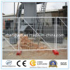 Cerca temporal galvanizada con el bloque de cemento y las abrazaderas para Australia