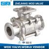 ISO 5211와 CF8 3 조각 클램프 볼 밸브