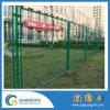 Revêtement en poudre verte clôture à mailles en acier temporaire au Japon le style