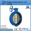 PN10 / 16 DN400 Hecho en la válvula de mariposa del reborde de China