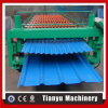 Roulis en acier de plissement de feuille de toiture de trapèze de Double couche formant la machine
