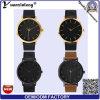 Yxl-067 단순한 설계 고품질은 금에 의하여 도금된 남자의 사업 손목 시계 선전용 남자 숙녀 시계를 본다