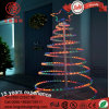 LED Flash Multicolor PVC Rope Spiral Christmas Tree Light for Holiday Décoration