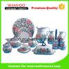 Complete 15 PCS China Dinnerware floral conjunto com pratos pratos