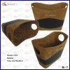Cestino della pelle scamosciata di Fuax del cestino del velluto (1053)