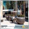 Potenciômetro de flores de granito polido/vaso para decoração de jardim