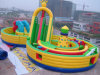 Inflatable gigante Jumping Castle con Slide (CYFC-403)