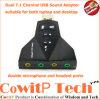 Audiokanal des USB-3D stichhaltige Karten-Adapter-Doppelt-7.1