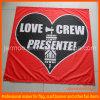 La publicité du drapeau de tissu de polyester avec le logo de compagnie