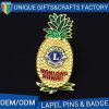 승진 고품질 파인애플 기장 주문 과일 접어젖힌 옷깃 Pin