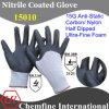 15g Anti-Static углерода/Нейлон вязаные рукавицы с Ultra-Fine нитриловые пена покрытие