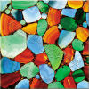 Telhas naturais do mosaico da ágata da cor