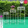 Jardin ronde Decroation Tall Set/3 Support du semoir