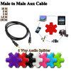 5-Way trasduttori auricolari da 1 - convertitore stereo dell'adattatore del divisore dei 5 3.5 millimetro audio