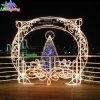 Al aire libre de alta calidad módico precio de la calle Arco de la decoración de Navidad