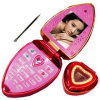 1.5inch Dual o telefone móvel Heart-Shaped de Sims/Bluetooth FM (MV5C-B8-L1A)