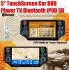 écart-type d'iPod du lecteur DVD TV Bluetooth de voiture de l'écran tactile 5