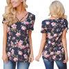Мода для женщин повседневные шифон печати футболка одежда блуза