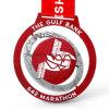 Medalla roja de encargo del deporte del maratón del giro de metal