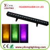 línea lámpara del poder más elevado de 6in1 Rgabwuv de la IGUALDAD de la colada de color LED