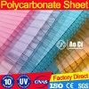 Hoja acanalada del policarbonato transparente de Bayer Makrolon para el tragaluz de la azotea