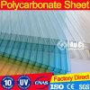 O costume colore a folha oca da telhadura do policarbonato com proteção UV