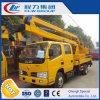 Dongfeng 두 배 시트 택시 공중 작업 플래트홈 트럭