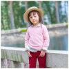 女の子のために着ている100%年の綿の暗いピンクの子供