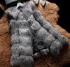 Тельняшка шерсти серебряного Fox женщин горячего сбывания естественная