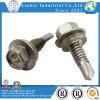 Vis Drilling d'individu de l'acier inoxydable 304 avec la rondelle en caoutchouc
