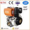 14HP de lucht koelde de Enige Draagbare Dieselmotor van de Output van de Nokkenas van de Directe Injectie van de Cilinder Verticale met de BuitenFilter van het Bad van de Olie