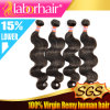 7A Malaysian Virgin Hair Extension Natural 100% Human Hair Weave Lbh117