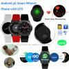 3G/Android Telefoon van het Horloge van Bluetooth van de pols de Slimme met het Tarief van het Hart Dm368