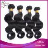 Tessuto indiano dei capelli del commercio all'ingrosso dell'onda dell'ente delicatamente a buon mercato nero